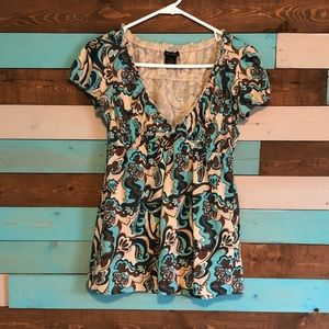 Floral V Neck Top by eyeshadow